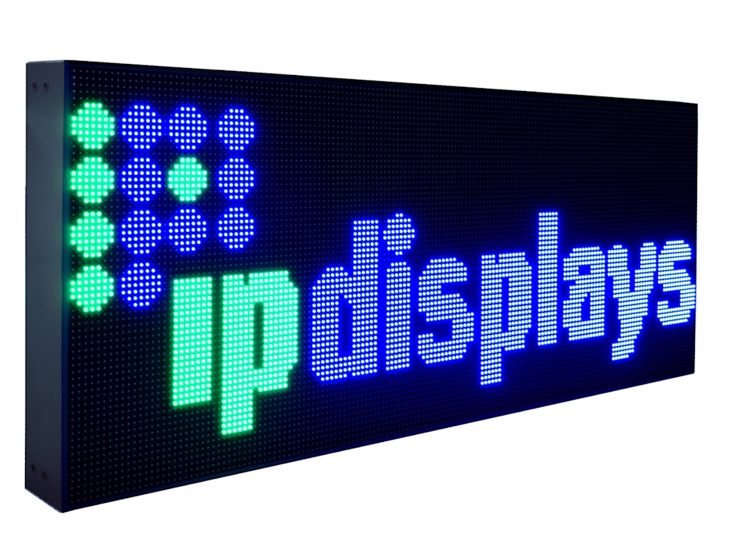 Ipled64x160rgb od10 outdoor led display ipdisplays for Exterior led screen